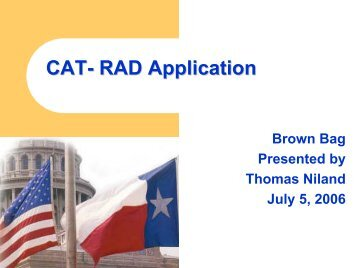 CAT- RAD Application - Window on State Government