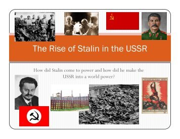 The Rise of Stalin