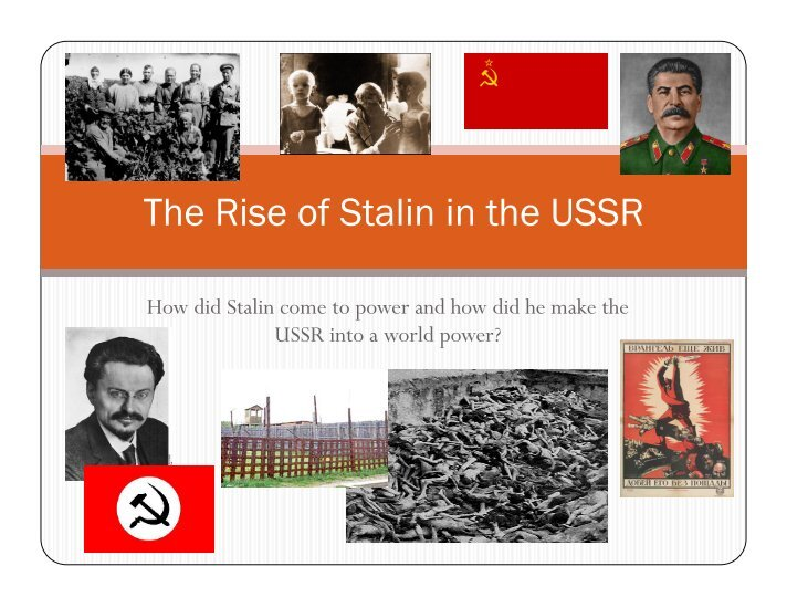 the aftermath of stalins rule in the ussr Explain the effects of the purges in the soviet union in the stalin got rid of the opposition to it also prompted active opposition to khrushchevs rule.
