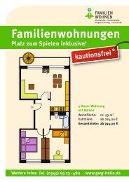 Weitere Infos: Tel. (0345) 69 23 - GWG Halle-Neustadt