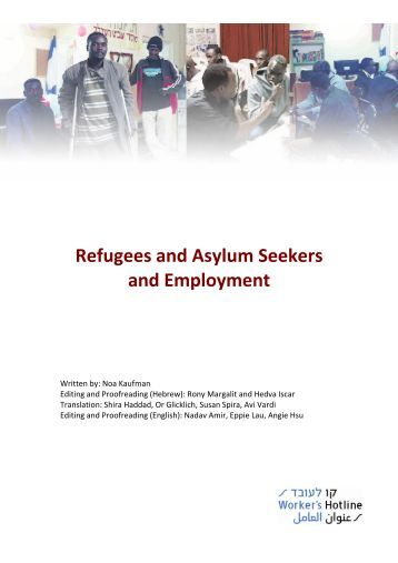 Report on Refugees and Asylum Seekers and Employment