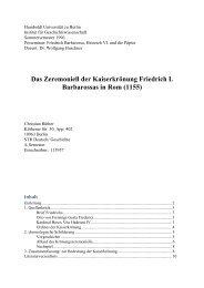 Das Zeremoniell der Kaiserkrönung Friedrich ... - Christian Rüther