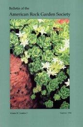 Bulletin - Summer 1994 - North American Rock Garden Society
