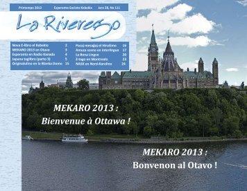 Riverego #111 - Société québécoise d'espéranto