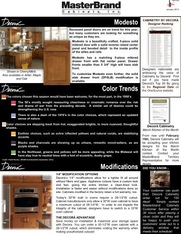 Modesto Discontinued Items Color Trends Modifications