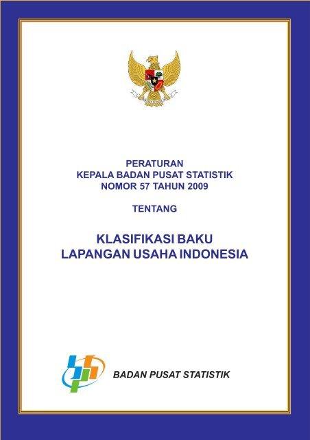 Klasifikasi Baku Lapangan Usaha Indonesia 2009 Ardin Bali