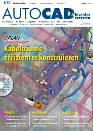 Leseprobe AUTOCAD & Inventor Magazin 2012/08