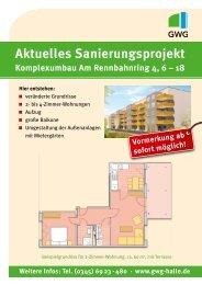 Aktuelles Sanierungsprojekt - GWG Halle-Neustadt
