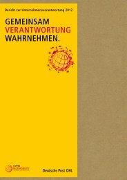 Bericht zur Unternehmensverantwortung 2012 - Deutsche Post DHL