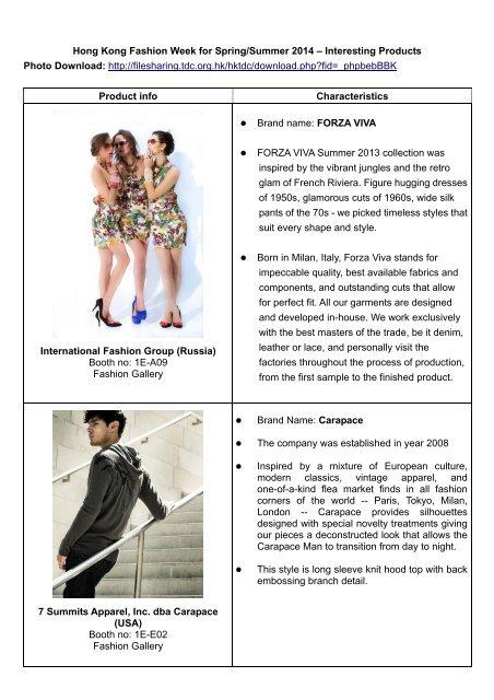Hong Kong Fashion Week For Spring Summer 2014 Interesting