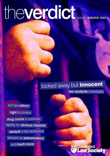 The Verdict Issue 1 2003 - Queensland Law Society