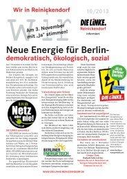 Neue Energie für Berlin- - Reinickendorf