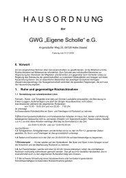 """Hausordnung der GWG """"Eigene Scholle"""" e.G., Halle (Saale) (Stand ..."""