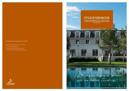 Hotelprospekt - Steigenberger Hotels and Resorts