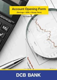 Savings + GPA + Group Term Account Opening ... - DCB Bank