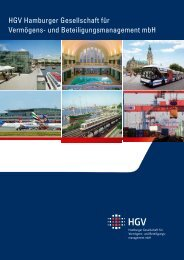 Geschäftsbericht 2007 - HGV Hamburger Gesellschaft für ...