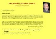 JOSÉ MANUEL CABALLERO BONALD - Gobierno de Canarias