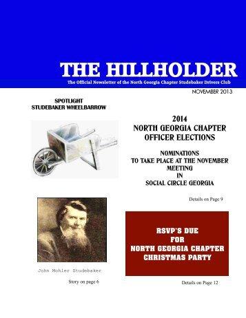 HH November 2013 Revision 1 - Studebaker Clubs