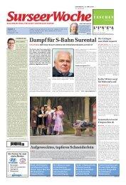 Ausgabe Surseer Woche 23. April 2009 - Neu auf www ...