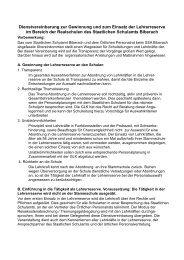 Vereinbarung zur Lehrerreserve im RS-Bereich - Staatliches ...