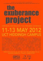 The Exuberance Project updated programme - GIPCA
