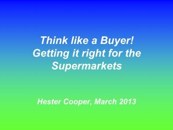 Hester Cooper 'Getting it right for supermarkets' - New Zealand Food ...