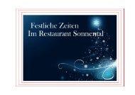 Speisekarte Querformat Festlich - Sorell Hotel Sonnental