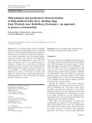 Mineralogical and geochemical characterization of high ... - Springer