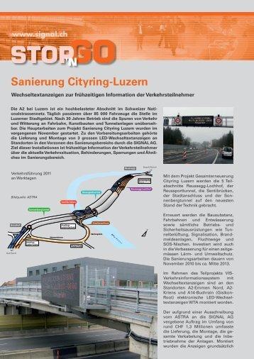 Sanierung Cityring-Luzern - Signal AG