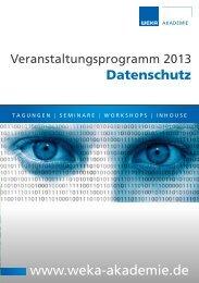 Seminar-Katalog 2013 - PDF Download (Größe ... - WEKA Seminare