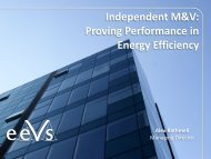Independent M&V: Proving Performance in Energy Efficiency - ESTA