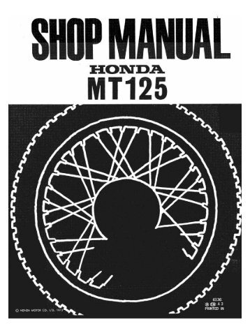 1973 Elsinore MT-125 Repair Manual - winds.ca