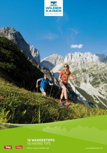 16 Wandertipps 16 hiking tips - Hotel Kaiser in Tirol