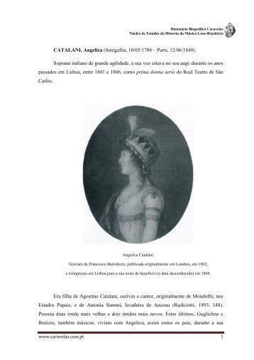 Angelica Catalani - Caravelas - Núcleo de Estudos da História da ...