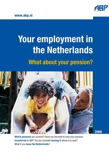 ABP Your employment in the Netherlands