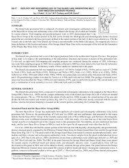 Geology and Geochronology of the Island Lake Greenstone Belt ...