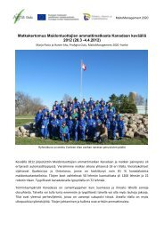 Robottimatka Kanadaan 28.3 - 4.4.2012 - ProAgria Oulu