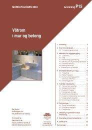 Våtrom i mur og betong - P15 (1.5 MB) - Bygg uten grenser