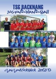 JUGENDHANDBALL - TSG Backnang