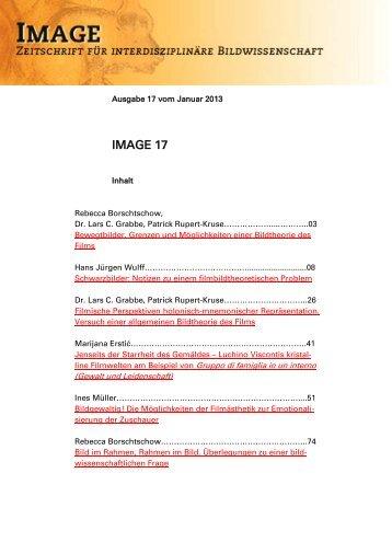 IMAGE 17 - Gesellschaft für interdisziplinäre Bildwissenschaft