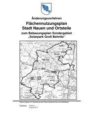 Flächennutzungsplan Stadt Nauen und Ortsteile