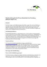 Kleiderordnung für die Private Realschule Gut Warnberg gültig ab ...
