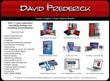 PDF Portfolio - ALL - DAVID FREDERICK