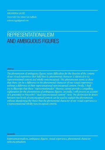 representationalism and ambiguous figures - Phenomenology Mind
