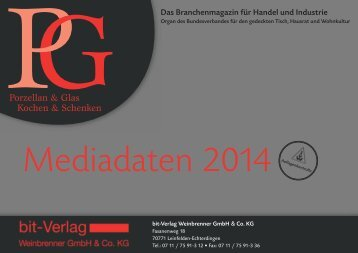 PGPorzellan & Glas Kochen & Schenken - BIT Fachzeitschrift für ...