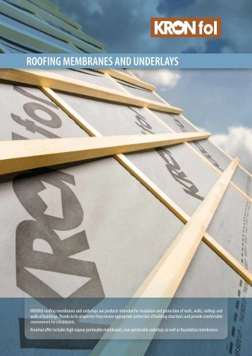 ROOFING MEMBRANES AND UNDERLAYS - products