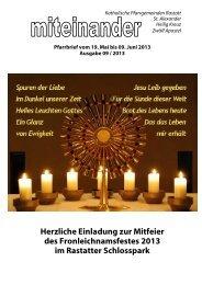 Pfarrbrief Nr. 2013-09 - Kath-Rastatt
