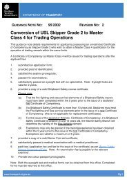 Conversion of USL Skipper Grade 2 to Master Class 4 for Trading ...