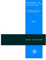 Syrian refugees and food insecurity in Iraq, Jordan and ... - UNHCR
