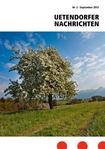 UN_2013_3 [PDF, 5.00 MB] - Gemeinde Uetendorf